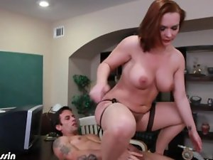 Sexual Katja Kassin ride anally a extremely big cock