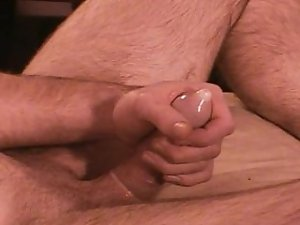 Beating off with a condom