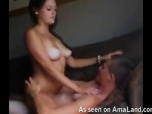 Natural homemade babe asking to get it harder!