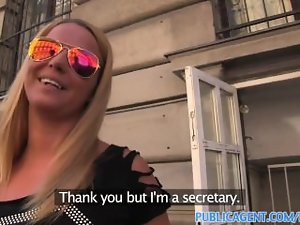 PublicAgent Luscious blondie fuck a artificial modelling agent for cash