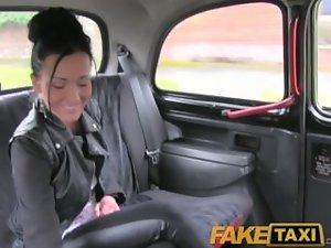 FakeTaxi Moody brunette english lass banged in the cab