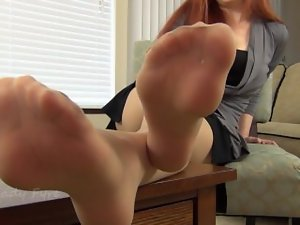 Point of view heels and feet