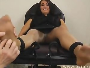 UK Tickling - Charley Atwell Nylon Foot Tickle
