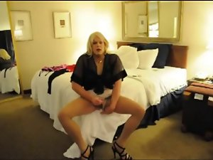 Lewd Blondie CD Rubs Clit and Shoots A Load