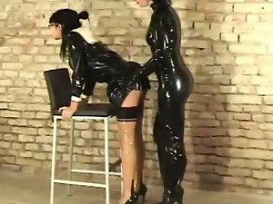 Latex slave torment