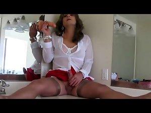 Transvestite Solo in Bathroom