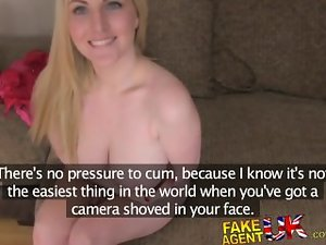 FakeAgentUK Big titted blue eyed Scottish gal gets creampie in artificial casting