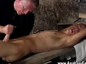 Gay XXX English twink Chad Chambers is his recent victim, held and