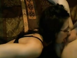 After her rimjob I cum on her tongue