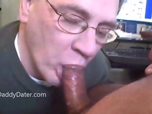 Denatured Grandpa Gives amazing Head And Swallows Cum