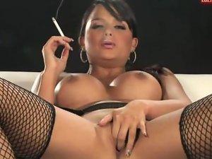 sasha cane smoking and masturbating 4