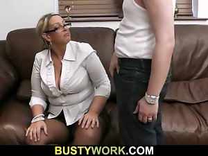 Top heavy girl gets her obese hole caressed and banged