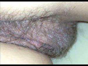 Muff close-up under the blanket (secretly filmed)