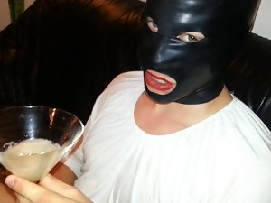 Cum Filled Condom 10, Cumshot, Semen, Bukkake, Mask, Latex