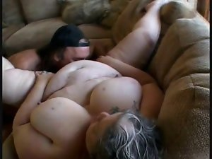 Thick wench with big melons during horny sex