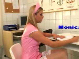 Sexual nurse extracting sperm