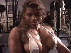 Luscious lustful ebony workout