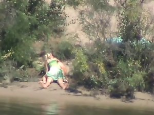 shy and sensual girlie rides shaft on the river