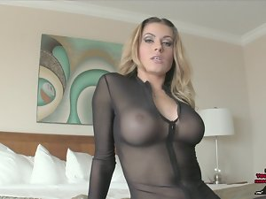Randy Moore Castratrix FEMDOM Point of view CATSUIT HEELS JOI