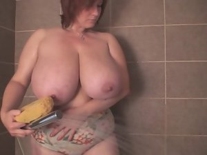 A Redhead-BBW-Milf with Huge Hooters