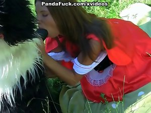 lassie licking enormous dick in the woods toy bear