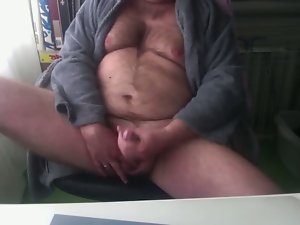 A awesome morning jerk and cum