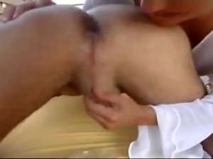 German Mummy delights caressing bum and gives a handjob