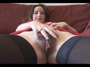 18 years old lady with hirsute fleshy labia
