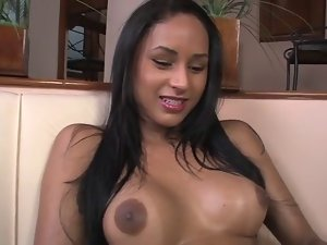 Lovely Brazilian transsexual with braces