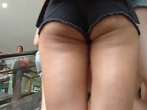 Bumcheeks in shorts HD