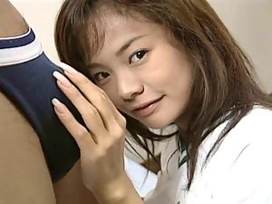 Nice looking 18yo Seductive japanese Girl's Filthy Luscious Pussy Grinded