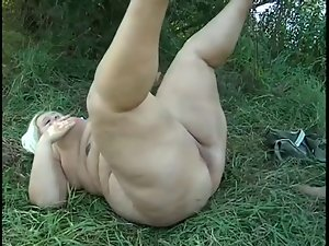Supersized Tempting blonde Fatty banged Outdoors