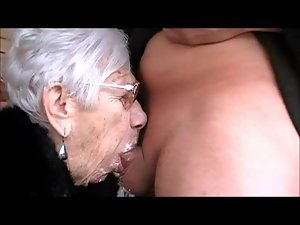 Grany Marge gets young man shaft for her 90th birthday