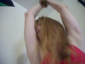 Redhead Cougar Lady Holly gets tied up and moist soggy