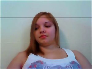 Heavy luscious teen on webcam
