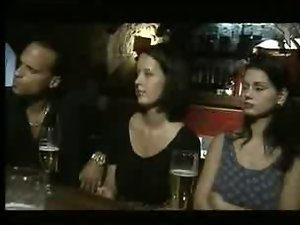 Italian Slutty chicks banged in a Bar