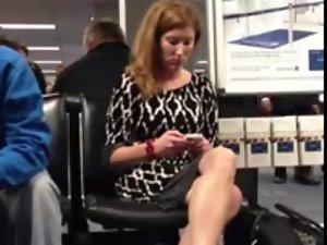 Unbelievable legs at the Airport 10