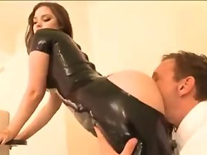 Daddys petite in latex