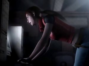Resident Evil - Claire Redfield has a terrific Naughty ass