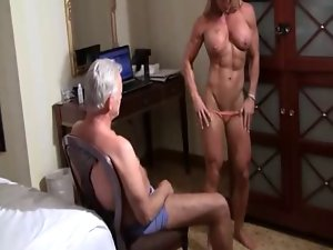 muscle bound lapdance for the aged man
