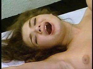 German Chap shaven a luscious teen Vagina and fuck