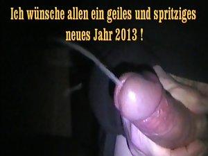 Wichsen im Garten 2013 - First jerking in 2013