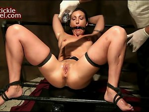 Wenona Oiled and Tickled to Orgasm
