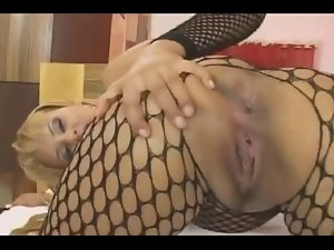 Blondie In Fishnet Loves Her Butt by TROC