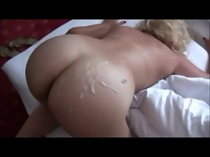 Curvy Blondie Slutty wife Shagged on Perfect Homemade