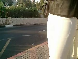 sensual white jeans