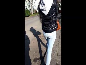 Christel Voyeur luscious seductive teen naughty ass