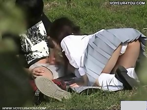 Watching outdoor sex play