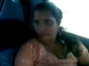 salwar aunty in parrked car