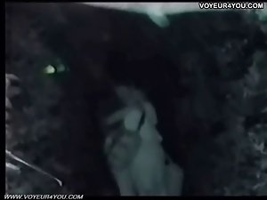 Sex show at night outdoor
